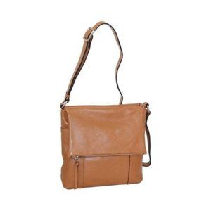 Nino Bossi Ady Cognac Crossbody Purse
